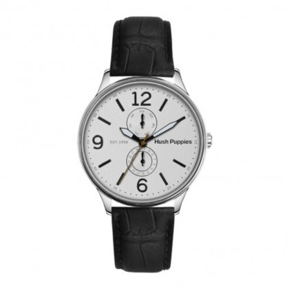 Hush Puppies Original Casual Men Watch HP.7130M.2501 White Black Leather