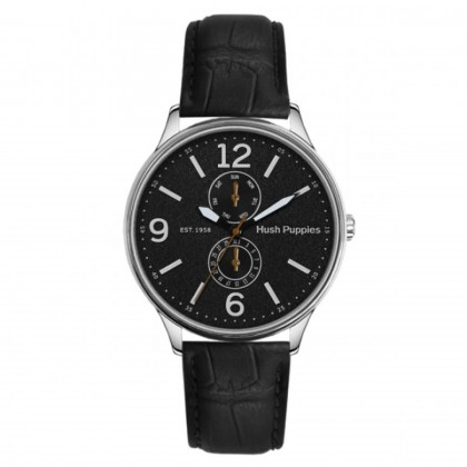 Hush Puppies Original Men Casual Watch HP.7130M.2502 White Black Leather